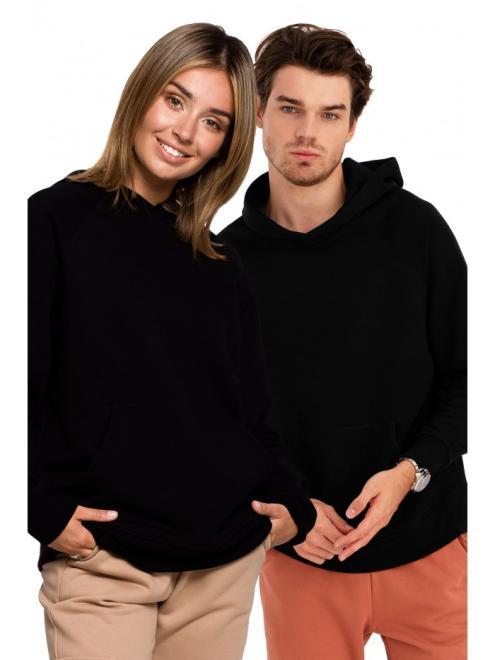 BE  B198 блуза с капюшоном czarna оптом