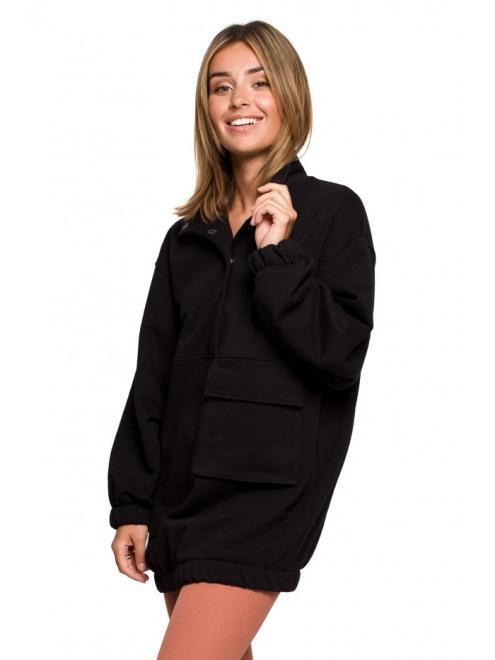 BE  B202 блуза туника czarna оптом