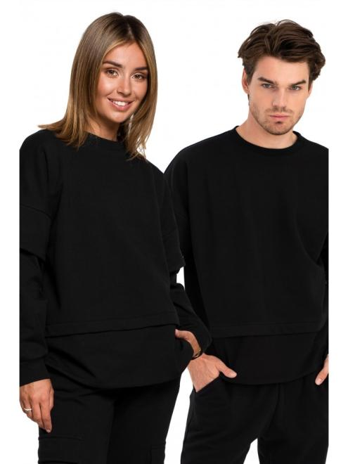 BE  B205 блуза czarna оптом