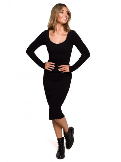 BE  B207 платье трикотаж czarna оптом