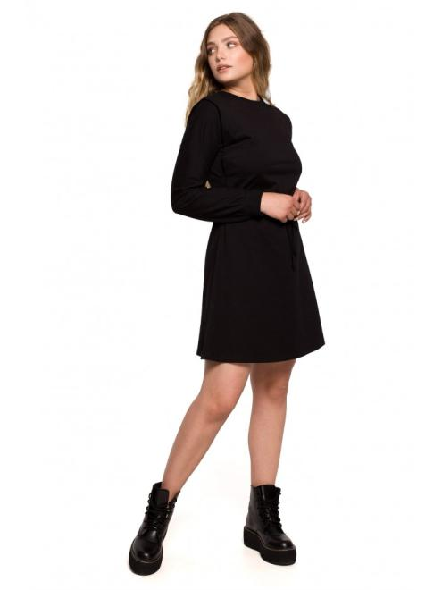 BE  B208 платье расклешоне czarna оптом