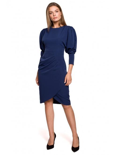 Style  S284 Платье Темносиний оптом