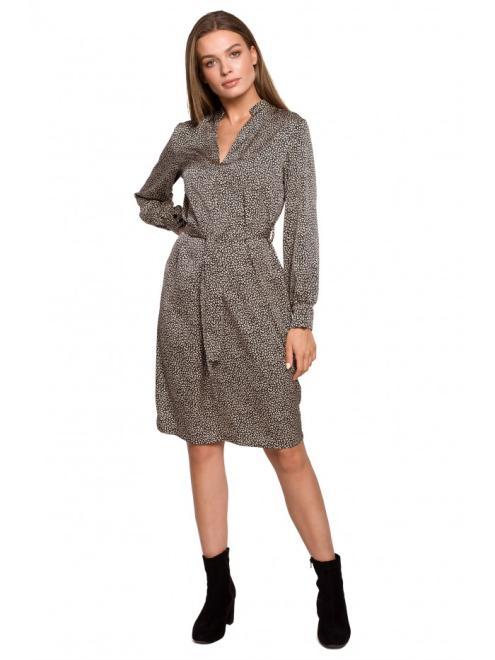 Style  S286 платье nadruk lampart оптом