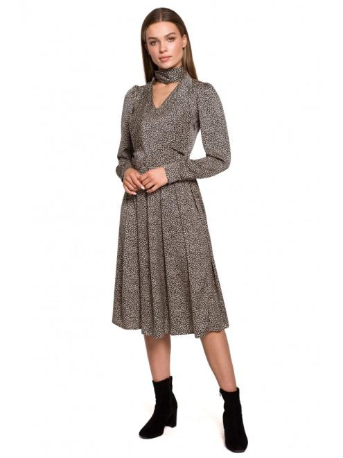 Style  S288 платье wzór lampart оптом