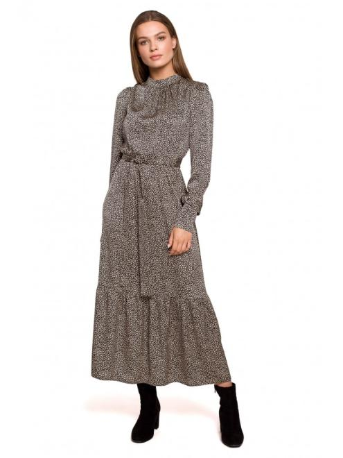 Style  S290 платье nadruk lampart оптом