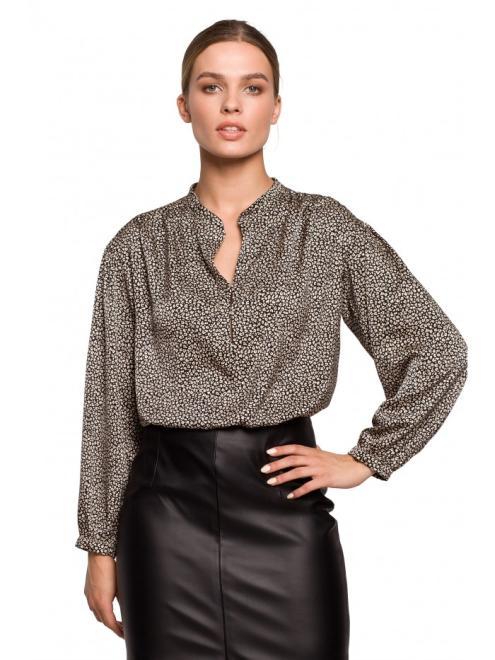 Style  S292 блузка nadruk lampart оптом