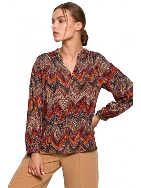 Style  S293 блузка nadruk aztecki оптом