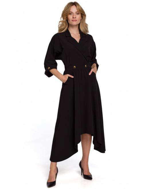 Makover  K086 Платье Черный оптом