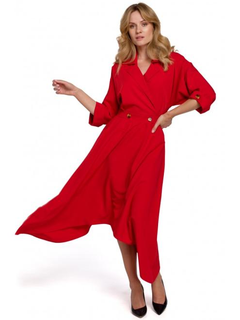 Makover  K086 Платье Красный оптом