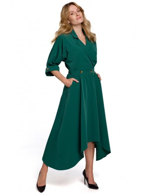 Makover  K086 Платье Зеленый оптом