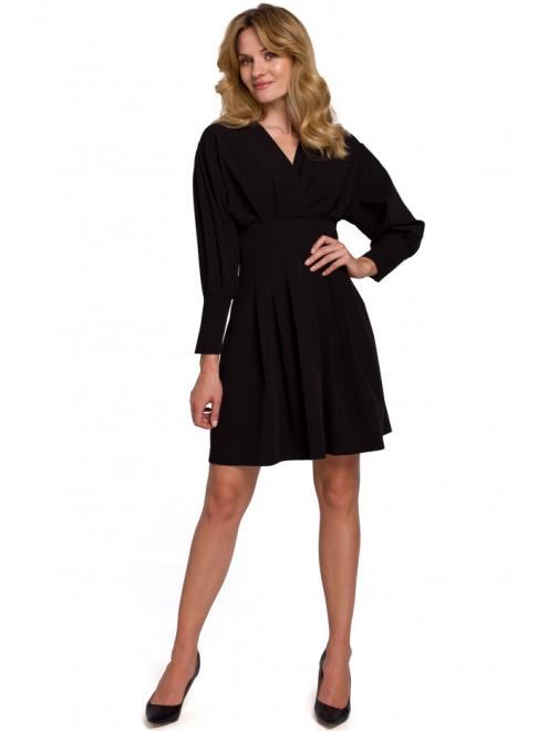 Makover  K087 Платье Черный оптом