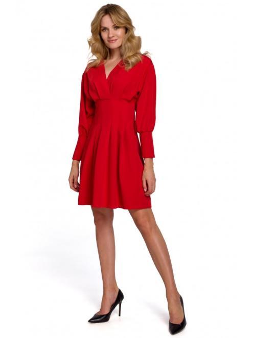 Makover  K087 Платье Красный оптом