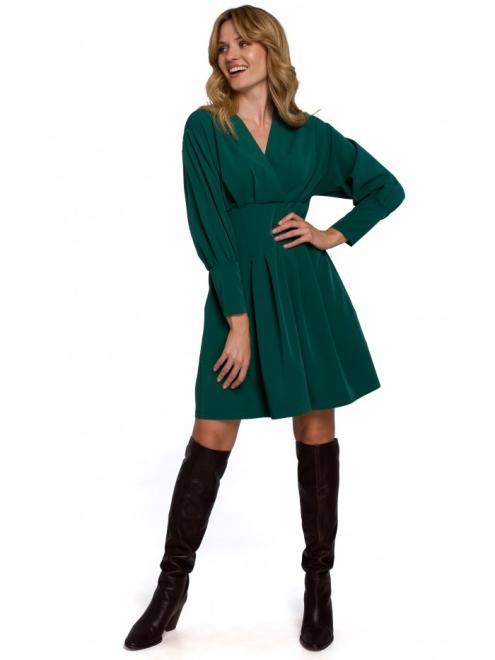 Makover  K087 Платье Зеленый оптом