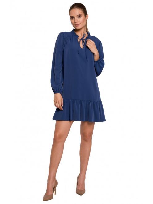 Makover  K120 платье Голубой оптом
