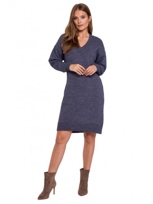 Makover  K122 платье Голубой оптом