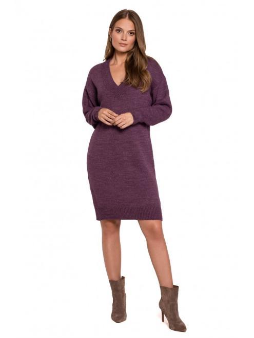 Makover  K122 платье Фиолетовый оптом