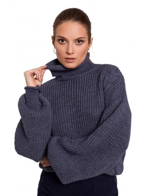 Makover  K124 свитер Голубой оптом