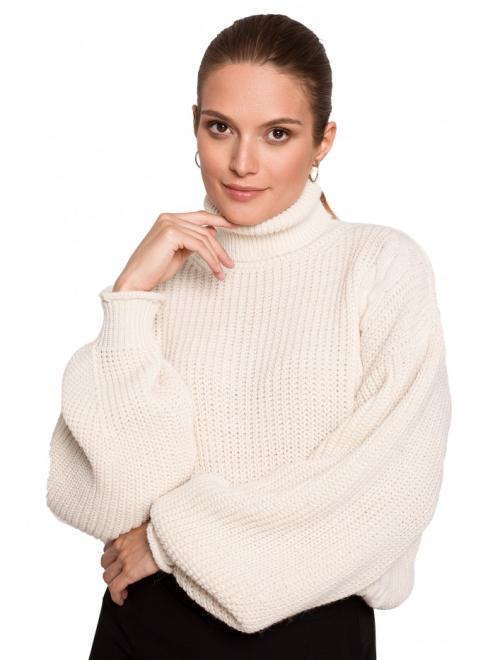 Makover  K124 свитер kość słoniowa оптом