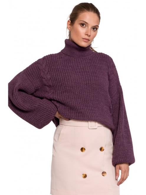 Makover  K124 свитер Фиолетовый оптом