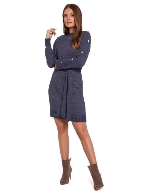 Makover  K123 платье Голубой оптом