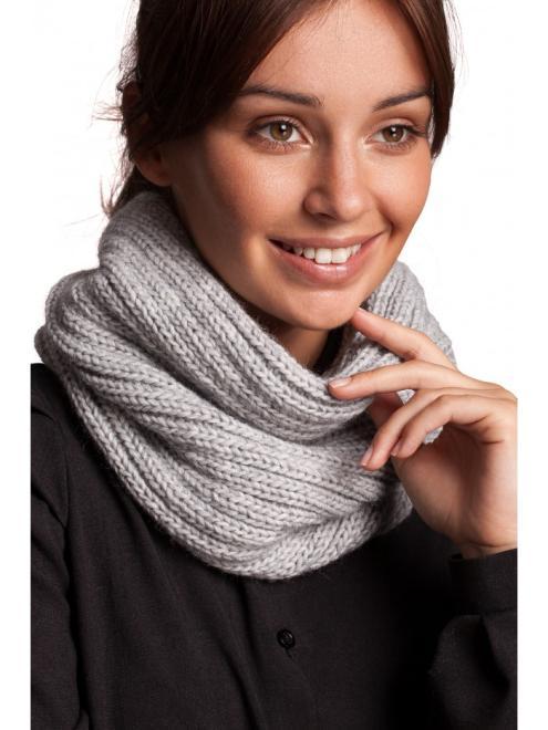 BE Knit  BK062 Шарф Серый оптом