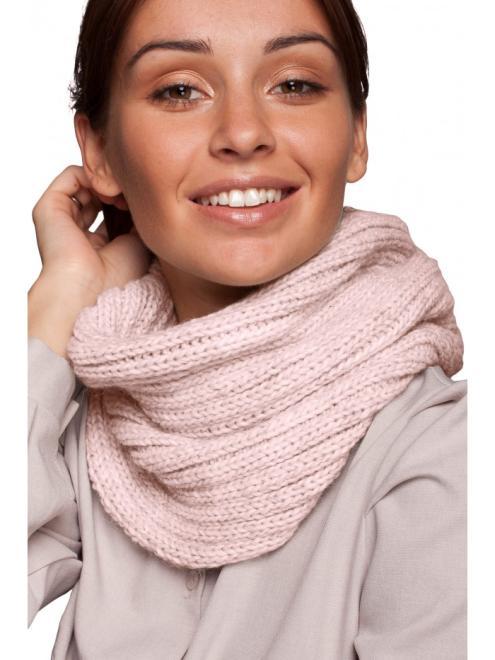 BE Knit  BK062 Шарф Розовый оптом