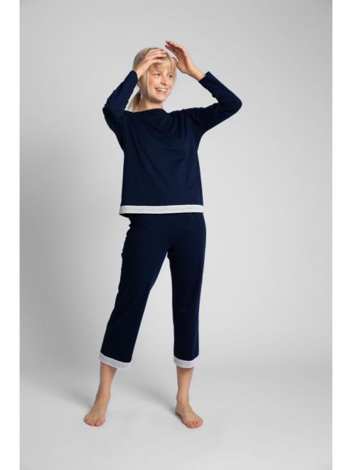 LaLupa  LA040 Блузка от пижамы Темносиний оптом