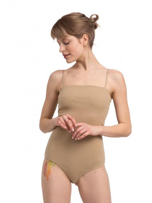 LaLupa  LA063 Body na cienkich ramiączkach Каппучино оптом