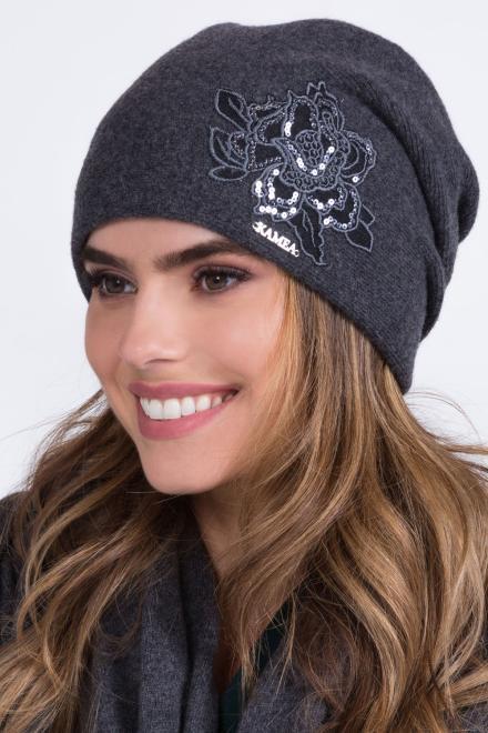 Kamea  ~Czapka model 149843 Kamea шапка серый оптом