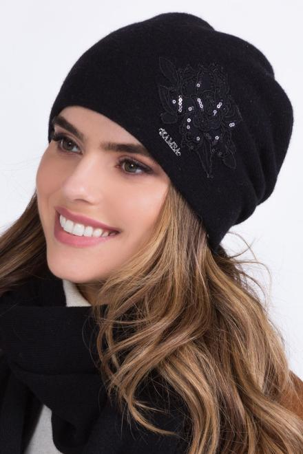Kamea  ~Czapka model 149844 Kamea шапка черный оптом