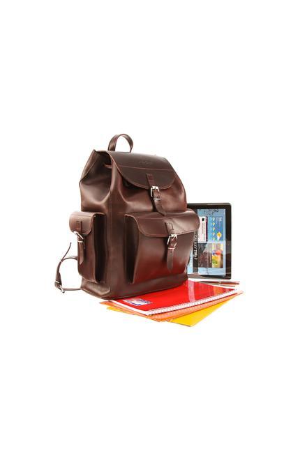 Verosoft  Ogromny plecak skórzany Vintage P40 Brown - Verosoft 152276 Рюкзак Коричневый оптом