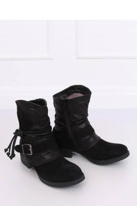 Inello  BOTKI MILITARNE CZARNE 201802-11B BLACK - Inello 150731 Ботинки Черный оптом