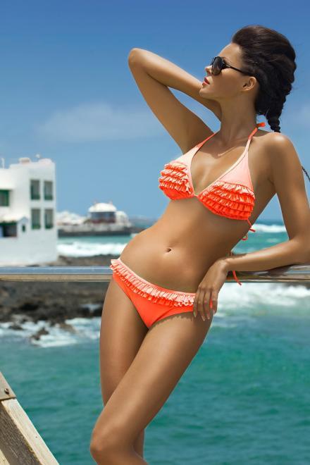 Ewlon  Kostium dwuczęściowy Kostium kąpielowy Model Barbados 2 Orange - Ewlon 146460 Купальник из двух частей Оранжевый оптом