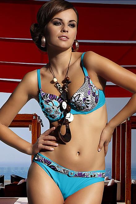 Ewlon  Kostium dwuczęściowy Kostium kąpielowy Model Elizabeth Blue - Ewlon 146604 Купальник из двух частей Голубой оптом