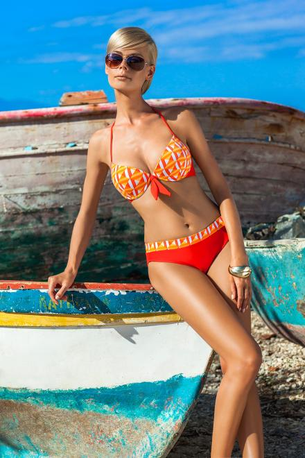 Ewlon  Kostium dwuczęściowy Kostium kąpielowy Model Tunis Orange - Ewlon Купальник из двух частей Оранжевый оптом