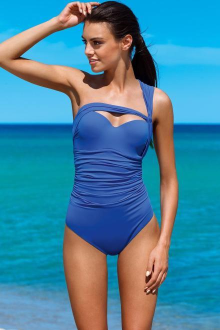 Lorin  Jednoczęściowy strój kąpielowy Kostium jednoczęściowy Model L4072/7 Chaber - Lorin 77777 Слитный купальник Голубой оптом