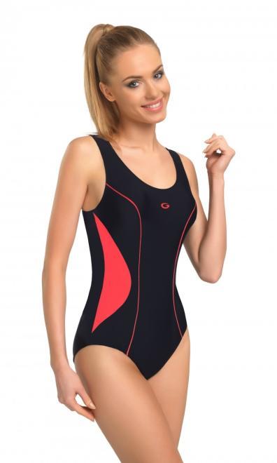 GWINNER  Jednoczęściowy strój kąpielowy Kostium jednoczęściowy Model Perfect I Black/Pink - GWINNER 112940 Слитный купальник Черный оптом