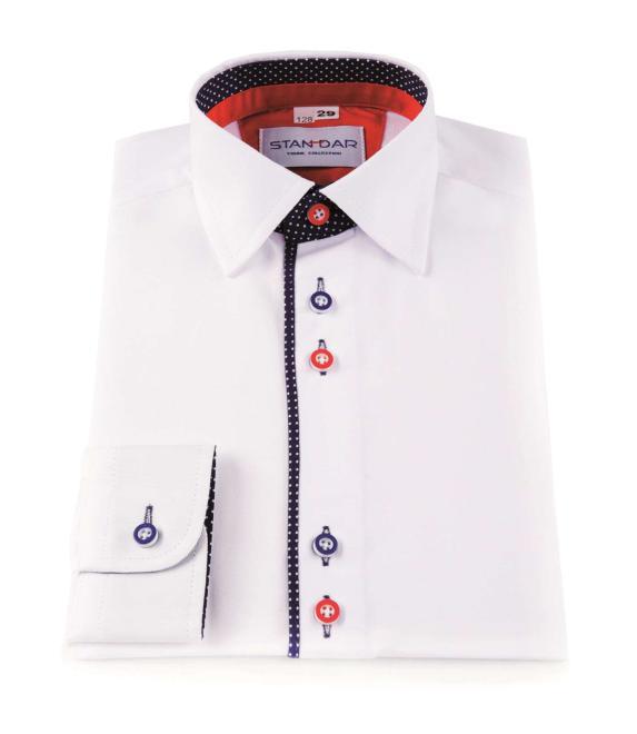 STANDAR  koszula biala M3 Рубашка с рис  оптом