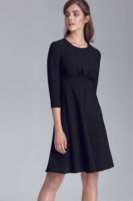 Nife  Czarna rozkloszowana sukienka damska - S124 Платье Черный оптом