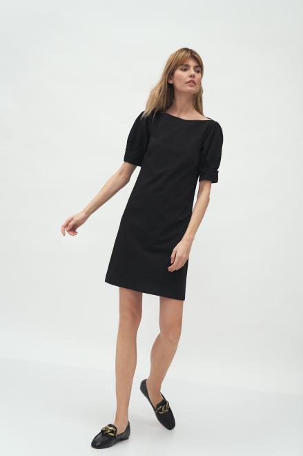Nife  Czarna sukienka z bufiastymi rękawami - S166 Платье Черный оптом