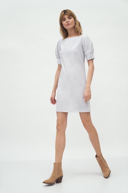 Nife  Szara sukienka z bufiastymi rękawami - S166 Платье Серый оптом