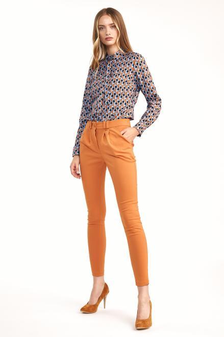 Nife  Klasyczne spodnie ze zwężanymi nogawkami - pomarańcz - SD62 Брюки Оранжевый оптом