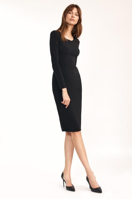 Nife  Czarna dopasowana sukienka - S192 Платье черный оптом
