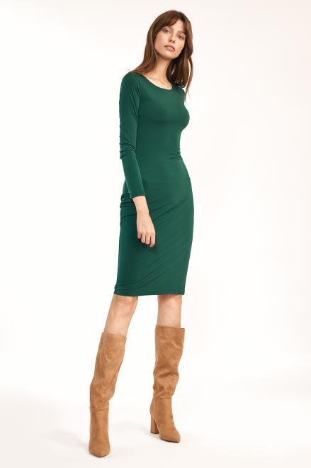 Nife  Dopasowana zielona sukienka - S192 Платье зеленый оптом