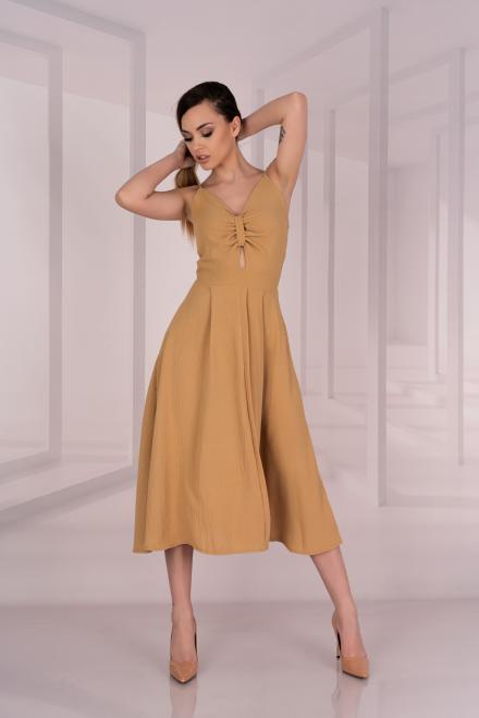 Merribel  Molinen Camel D04 sukienka Платье Camel оптом