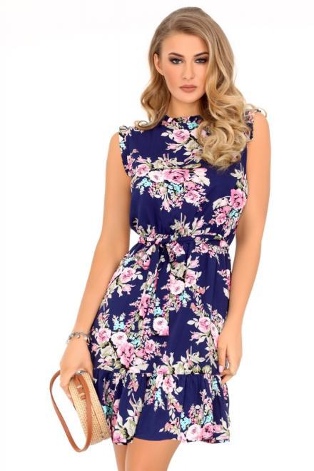 Merribel  Treesea Navy Blue 85488 sukienka Платье как на фото оптом