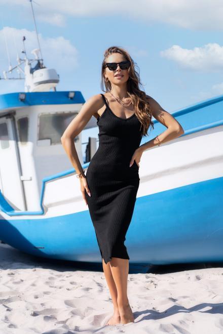 Merribel  Ocyanna Black sukienka Платье черный оптом