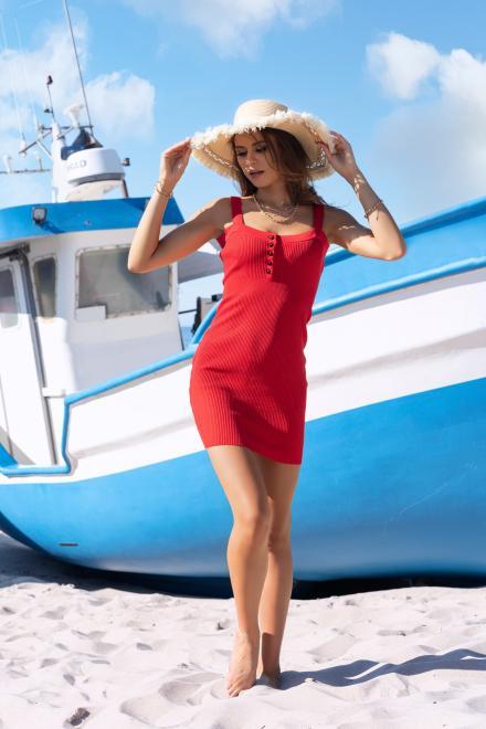 Merribel  Soriee Red sukienka Платье красный оптом