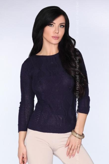 Merribel  Sadila Navy Blue sweter Свитер Темносиний оптом