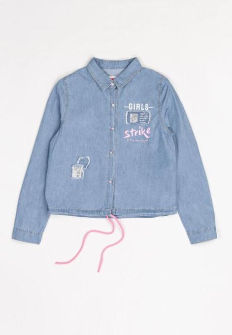 Multu  Niebiesko-Różowa Koszula Aeres Рубашка Голубой оптом
